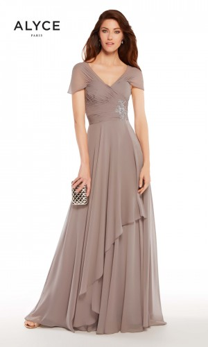Alyce Paris 27250 Cap-Sleeve Evening Dress