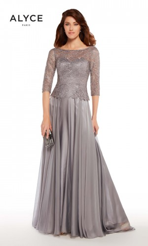 Alyce Paris 27251 Bateau-Neck Evening Dress