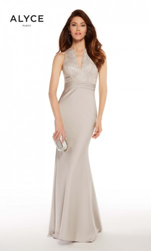 Alyce Paris 27253 Fitted Satin Evening Gown