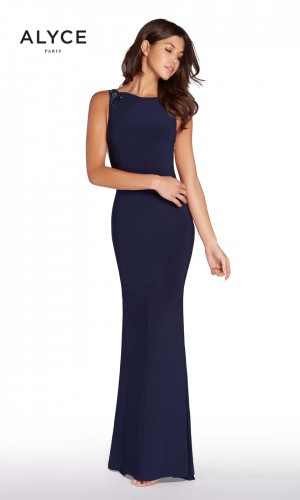 Alyce Paris 60005 Cutout Back Formal Dress