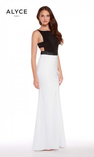 Alyce Paris 60007 Cutout Waist Formal Gown