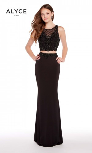 Alyce Paris 60016 Crop Top Prom Dress