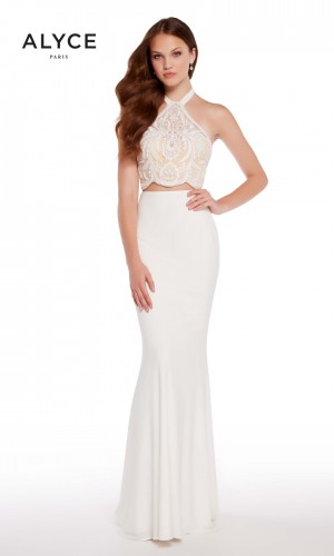 Alyce Paris 60021 Tie-Halter Long Party Dress