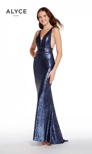 Alyce Paris 60036 Plunging V-Neck Prom Gown