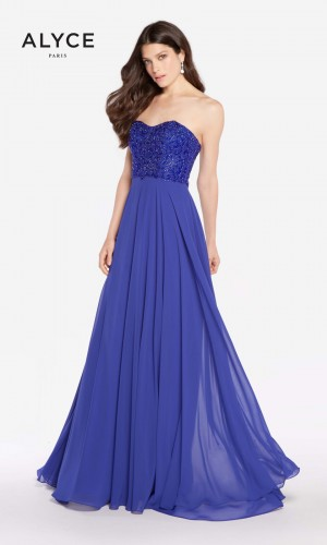 Alyce Paris 60049 Sweetheart-Neck Long Party Dress