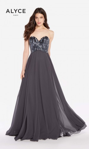 Alyce Paris 60050 Laced-Up Back Long Party Dress