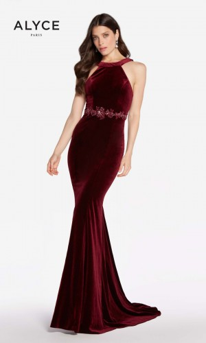 Alyce Paris 60072 Fitted Velvet Prom Gown