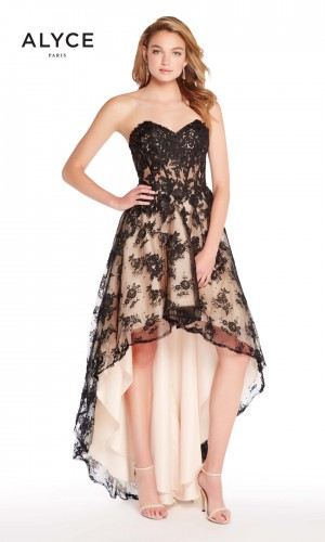 Alyce Paris 60084 High-Low Lace Prom Dress