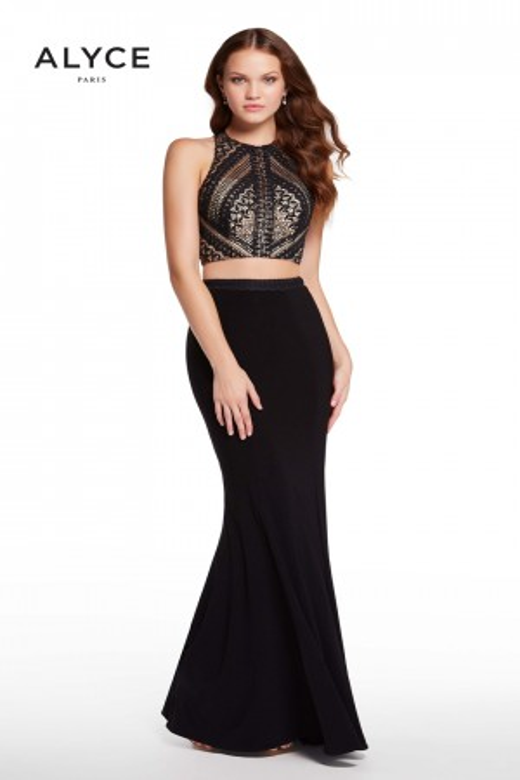 Alyce Paris 60134 Crop Top Long Party Dress