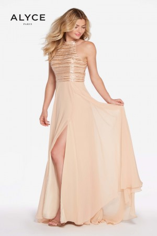 Alyce Paris 60146 High-Neck Formal Dress