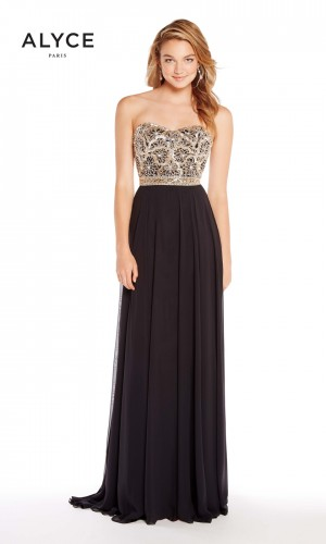 Alyce Paris 60191 Strapless Long Party Dress