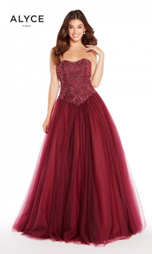 Alyce Paris 60203 Laced-Up Back Formal Gown