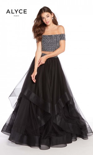 Alyce Paris 60208 Off-The-Shoulder Prom Gown
