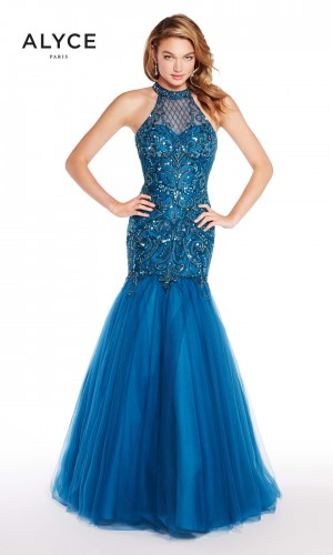 Alyce Paris 60232 Cutout Back Formal Gown