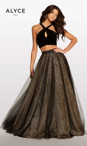 Alyce Paris KP103 Halter-Top Long Party Dress