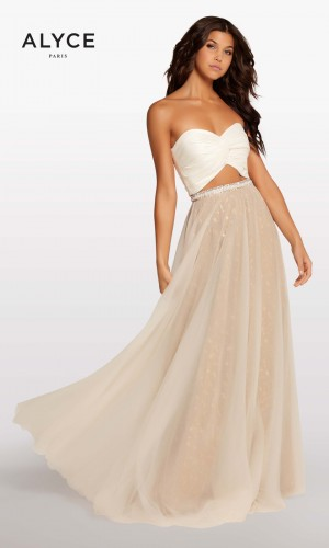 Alyce Paris KP107 Strapless Crop Top Formal Dress