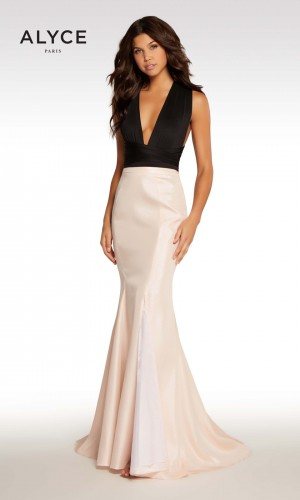 Alyce Paris KP108 Plunging V-Neck Formal Dress