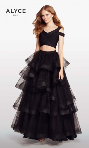 Alyce Paris KP122 Cold-Shoulder Prom Gown