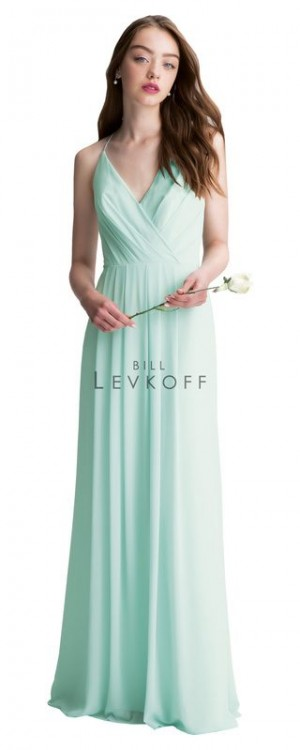 Bill Levkoff 1402 Chiffon Spaghetti Straps Bridesmaid Dress