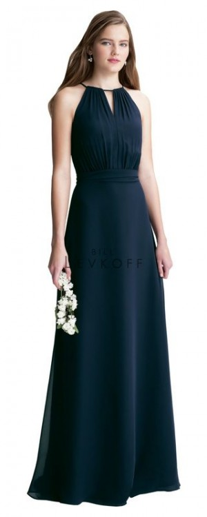 Bill Levkoff 1404 Chiffon Halter Bridesmaid Dress