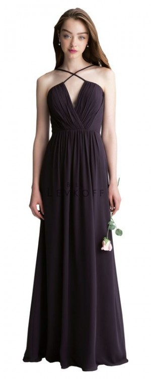 Bill Levkoff 1405 Chiffon Halter Bridesmaid Dress