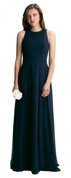 Bill Levkoff 1407 Chiffon Jewel Neckline Bridesmaid Dress