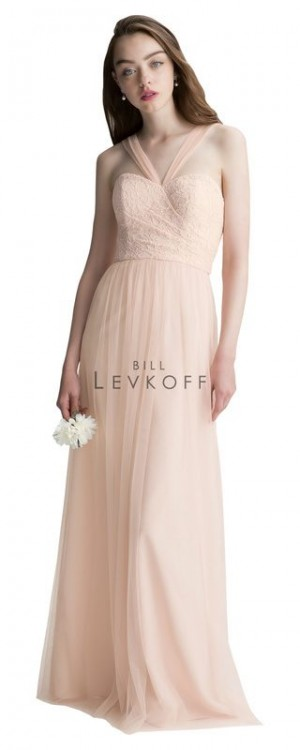 Bill Levkoff 1422 Corded Lace Sweetheart Bridesmaid Dress
