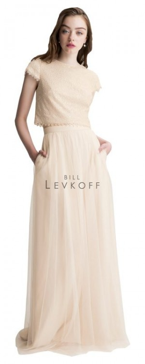Bill Levkoff 1425 Sequin Net Jewel Bridesmaid Dress