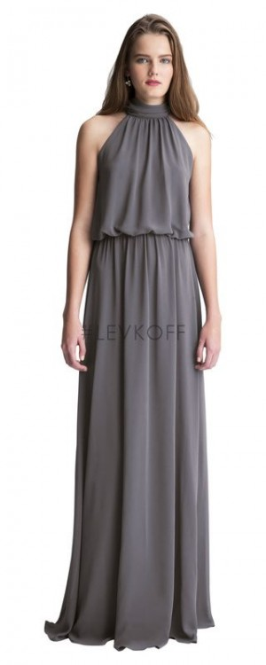 Bill Levkoff 7003 Chiffon High Neck Bridesmaid Dress