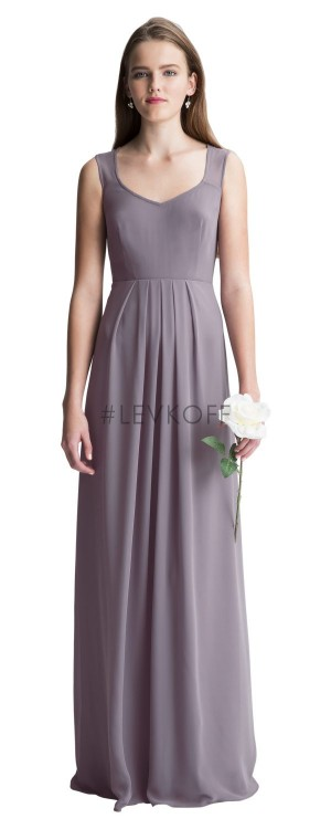 Bill Levkoff 7005 Chiffon Anne Neckline Bridesmaid Dress