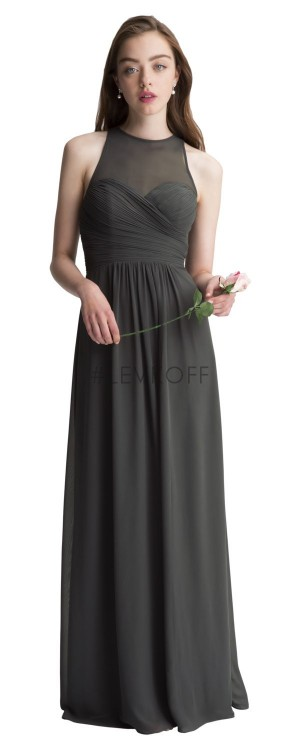 Bill Levkoff 7010 Chiffon Sweetheart Bridesmaid Dress