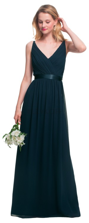 Bill Levkoff 7026 V-Neck Bridesmaid Dress