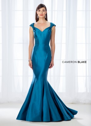 Cameron Blake 118661 Cap-Sleeve Evening Dress