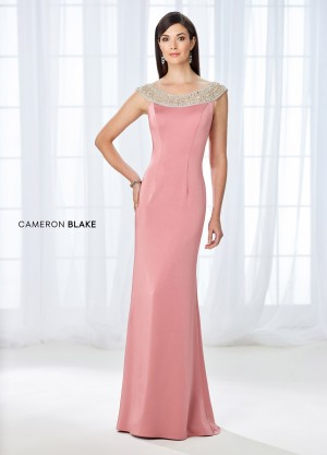 Cameron Blake 118663 Scoop-Neck Evening Dress