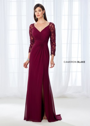 Cameron Blake 118672 Three-Quarter Sleeves Formal Dress