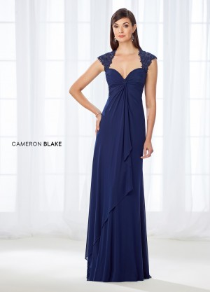Cameron Blake 118673 Queen Anne Neckline Formal Dress
