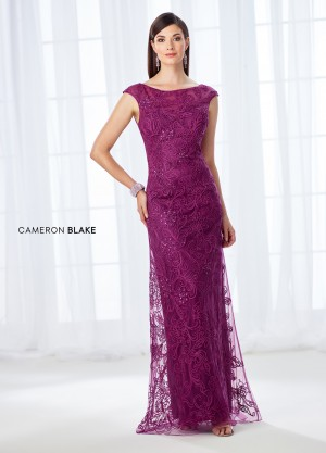 Cameron Blake 118676 Cap-Sleeve Formal Gown