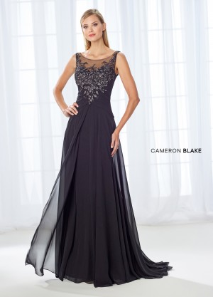 Cameron Blake 118680 Illusion Neckline Formal Gown