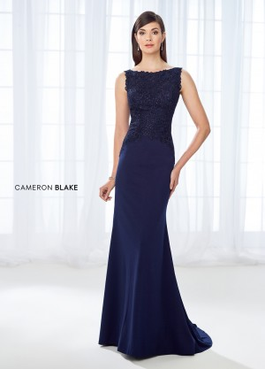 Cameron Blake 118684 Bateau-Neck Mother of Bride Dress