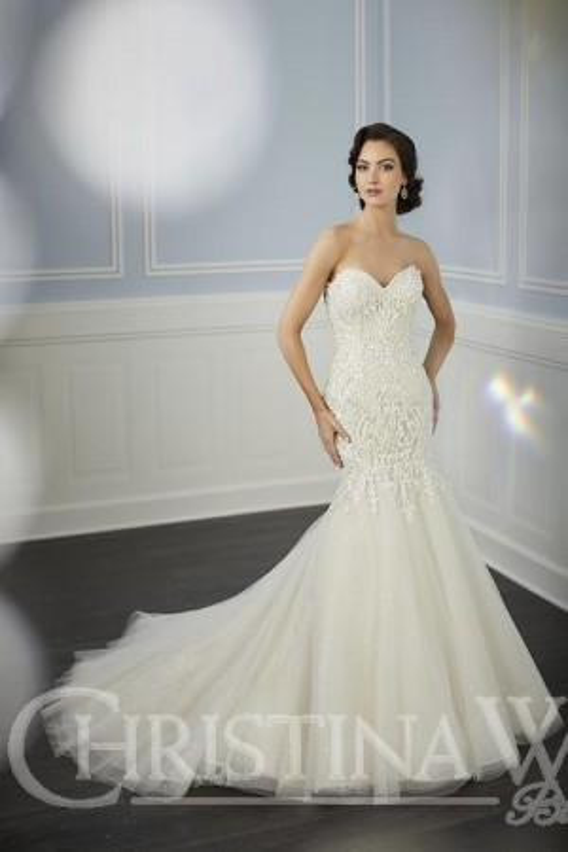 6580adf5b83f Christina Wu 15704 Strapless Sweetheart Neck Wedding Gown