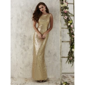 Christina Wu 22704 Sequin Bateau Bridesmaid Dress