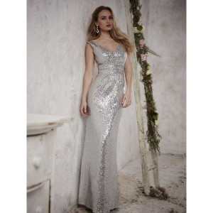 Christina Wu 22708 Sequin Off the Shoulder Bridesmaid Dress