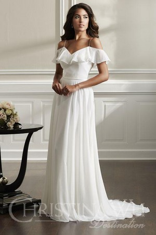 9a63bf7558 Christina Wu 22897 Ruffle Top Wedding Dress