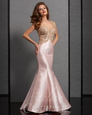 Clarisse Atelier 6303 Cutout Back Mother of the Bride Gown
