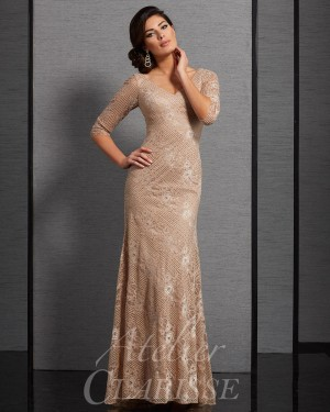 Clarisse Atelier 6305 V-Neck Mother of the Bride Gown