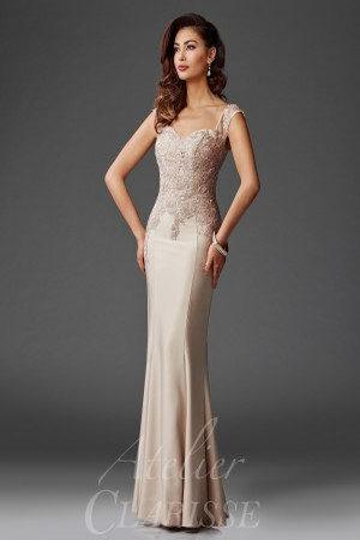 Clarisse Atelier M6416 Scoop Back Evening Dress
