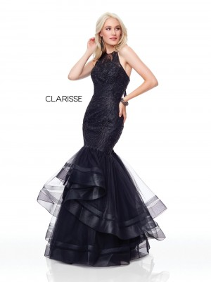 f2f52427b905 Clarisse Couture 5016 Trumpet-Style Prom Gown