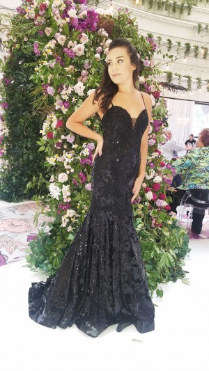 Dave and Johnny A6768 Trumpet-Style Sequin Prom Gown