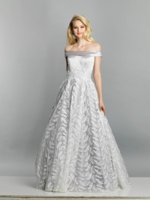 Dave and Johnny A6787 Lace Skirt Long Party Dress