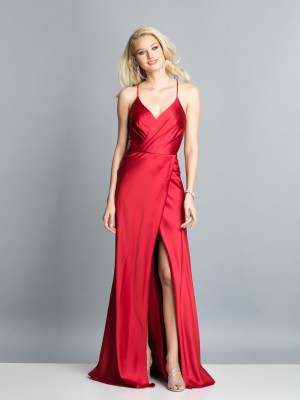 Dave and Johnny A7534 High Slit Long Party Dress